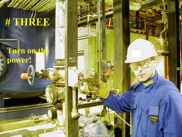 Power Engineer Dave starts pump