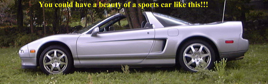 Honda NSX.  Acura NSX looks nicer but too expensive